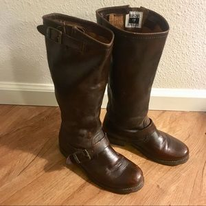FRYE ^ Chocolate Knee High Leather Boot